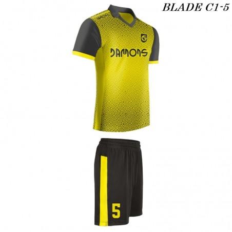 Strój piłkarski BLADE C1 żółty