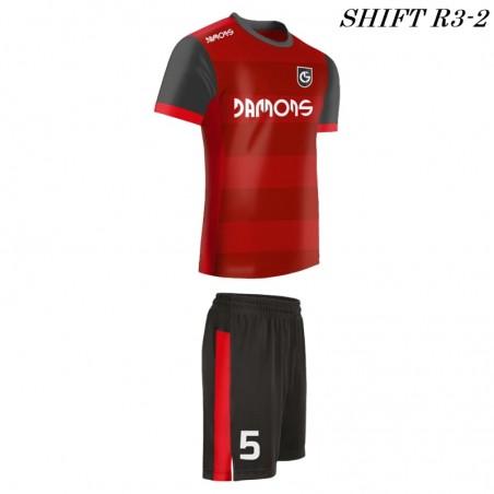 Strój piłkarski Damons SHIFT R3 czerwony pasy
