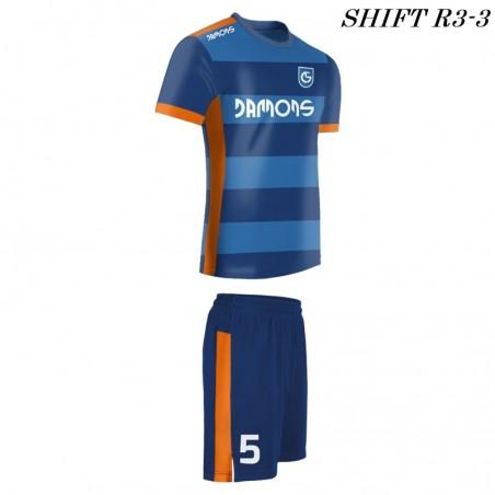 Strój piłkarski Damons SHIFT R3 niebieski w pasy