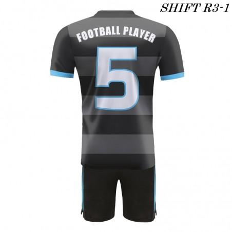 Strój piłkarski Damons SHIFT R3 szaro-czarny tył