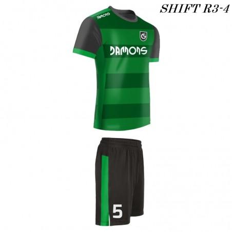 Strój piłkarski Damons SHIFT R3 zielony w pasy