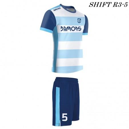 Strój piłkarski Damons SHIFT R3 błękitny w pasy