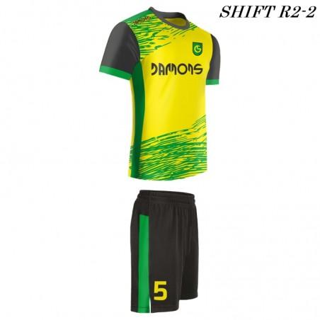 Strój piłkarski Damons SHIFT R2 żółto zielony