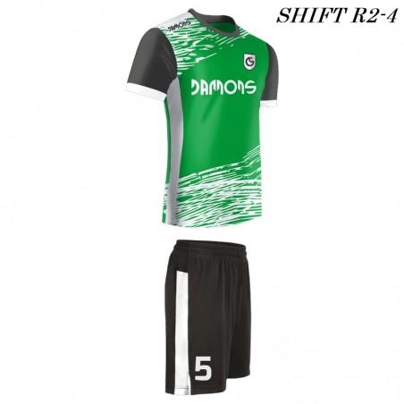 Strój piłkarski Damons SHIFT R2 biało zielony
