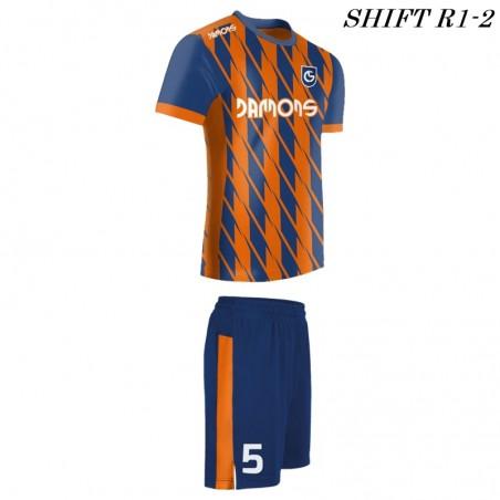 Strój piłkarski Damons SHIFT R1-2 orange. Komplety dla piłkarzy.