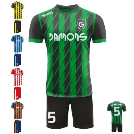 Stroje piłkarskie Damons SHIFT R3-1 pięć kolorów. Komplety dla piłkarzy.
