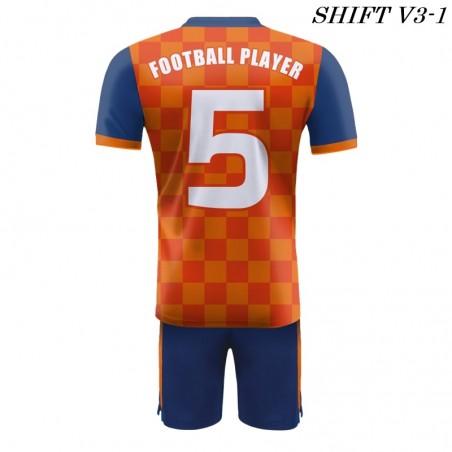 Strój piłkarski Damons SHIFT V3-1 pomarańczowy/ plecy. Komplety dla piłkarzy.