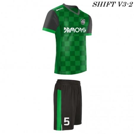 Strój piłkarski Damons SHIFT V3-2 zielony. Komplety dla piłkarzy.