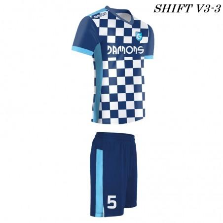 Strój piłkarski Damons SHIFT V3-3 niebieski. Komplety dla piłkarzy.