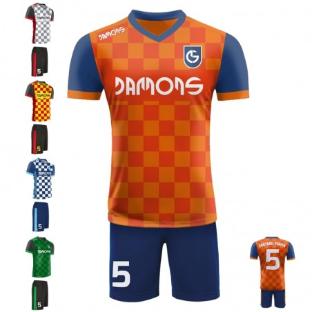 Stroje piłkarskie Damons SHIFT V3 . Komplety dla piłkarzy.