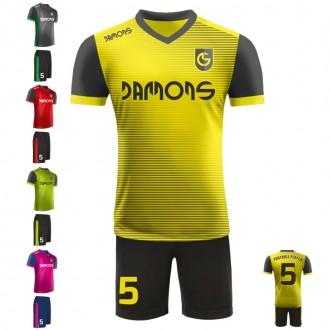 Stroje piłkarskie Damons SHIFT V2 w czterech kolorach. Komplety dla piłkarzy.