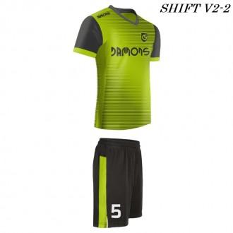 Strój piłkarski Damons SHIFT V2-2 zielony. Komplety dla piłkarzy.