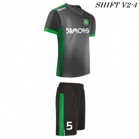 Strój piłkarski Damons SHIFT V2-4 szary. Komplety dla piłkarzy.