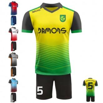 Stroje piłkarskie Damons SHIFT C3 w pięciu kolorach. Komplety dla piłkarzy.