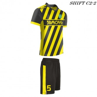 Strój piłkarski Damons SHIFT C2-2 żółty. Komplety dla piłkarzy.