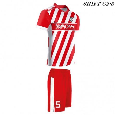 Strój piłkarski Damons SHIFT C2-5 czerwony. Komplety dla piłkarzy.