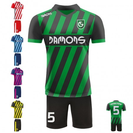 Stroje piłkarskie Damons SHIFT C2 w pięciu kolorach. Komplety dla piłkarzy.