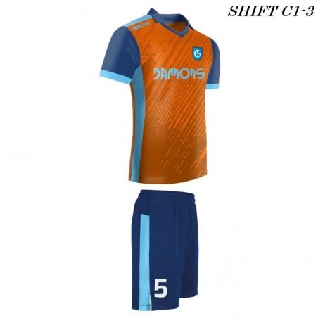 Strój piłkarski Damons SHIFT C1-3 orange. Komplety dla piłkarzy.