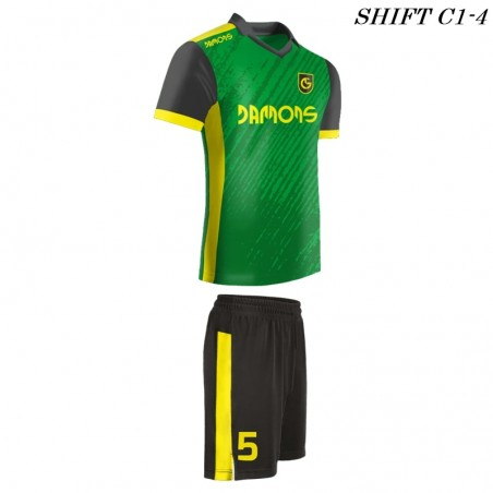 Strój piłkarski Damons SHIFT C1-4 zielony. Komplety dla piłkarzy.
