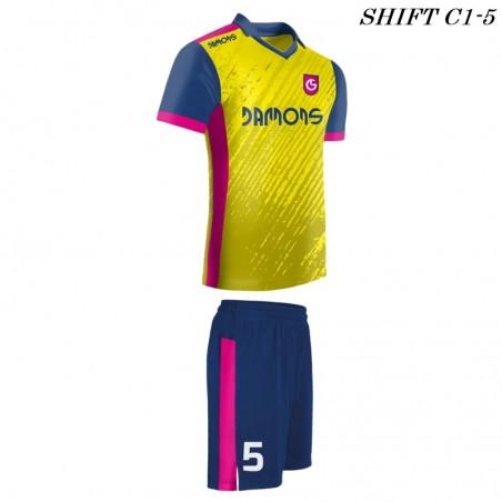 Strój piłkarski Damons SHIFT C1-5 żółty. Komplety dla piłkarzy.