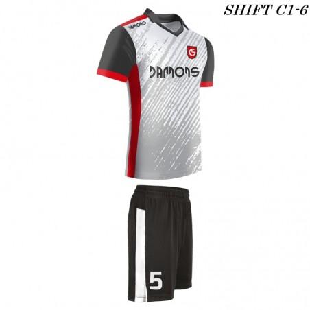 Strój piłkarski Damons SHIFT C1-6 biały. Komplety dla piłkarzy.