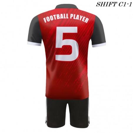 Strój piłkarski Damons SHIFT C1-1 czrwony. Komplety dla piłkarzy.
