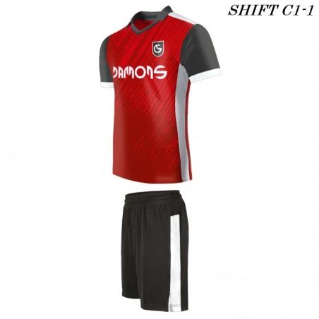 Strój piłkarski Damons SHIFT C1-1 profil lewy. Komplety dla piłkarzy.