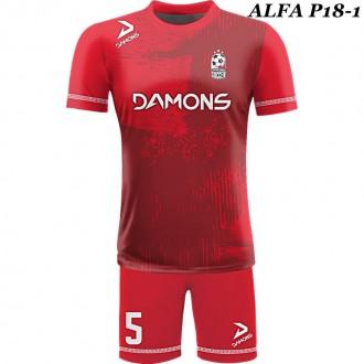 Strój piłkarski Damons ALFA P18-1. Komplety dla piłkarzy.