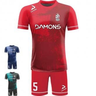 Stroje piłkarskie Damons ALFA P18. Komplety dla piłkarzy.