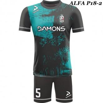 Strój piłkarski Damons ALFA P18-2. Komplety dla piłkarzy.