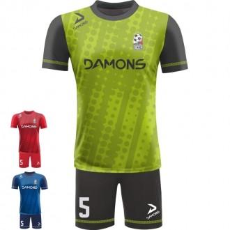 Stroje piłkarskie ALFA P18. Komplety dla piłkarzy z sublimowaną koszulką