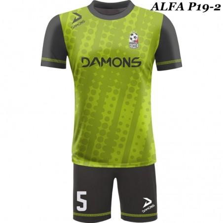 Strój piłkarski ALFA P18-2. Komplet dla piłkarzy z sublimowaną koszulką