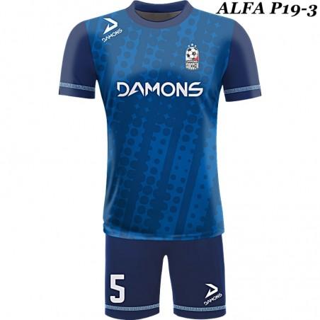 Strój piłkarski ALFA P18-3. Komplet dla piłkarzy z sublimowaną koszulką
