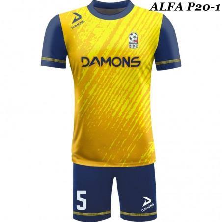 Strój piłkarski Damons ALFA P19-1. Komplety dla piłkarzy.
