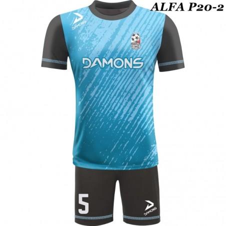 Strój piłkarski Damons ALFA P19-2. Komplety dla piłkarzy.