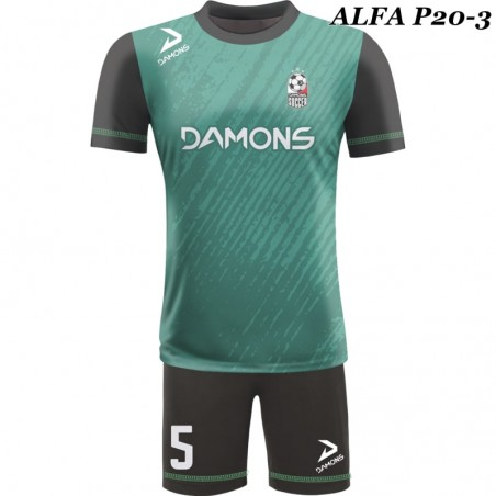 Strój piłkarski Damons ALFA P19-3. Komplety dla piłkarzy.