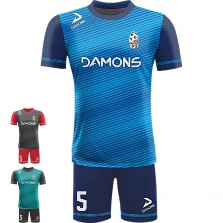 Stroje piłkarskie Damons ALFA P21. Komplety dla piłkarzy.