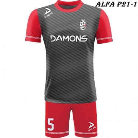 Strój piłkarski Damons ALFA P21-1. Komplety dla piłkarzy.