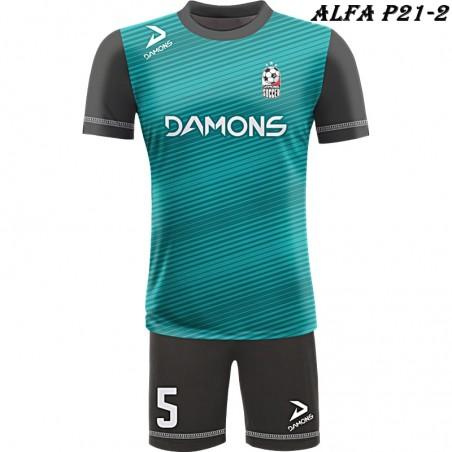 Strój piłkarski Damons ALFA P21-2. Komplety dla piłkarzy.