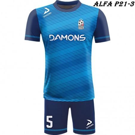 Strój piłkarski Damons ALFA P21-3. Komplety dla piłkarzy.