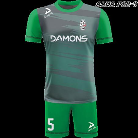 Strój piłkarski Damons ALFA P22-2. Komplety dla piłkarzy.