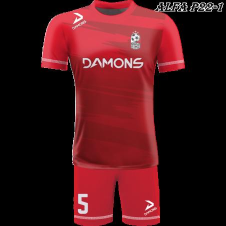 Strój piłkarski Damons ALFA P22-1. Komplety dla piłkarzy.