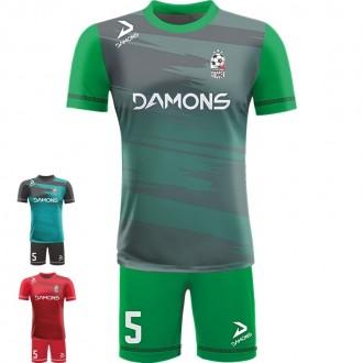 Stroje piłkarskie Damons ALFA P22. Komplety dla piłkarzy.