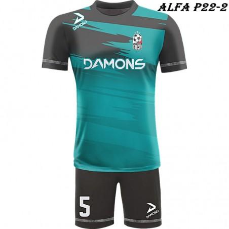 Strój piłkarski Damons ALFA P22-3. Komplety dla piłkarzy.