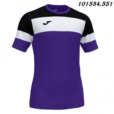 Koszulka piłkarska Joma Crew IV 101534- czarny-biały-fioletowy