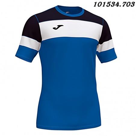 Koszulka piłkarska Joma Crew IV 101534- czarny-biały-niebieski