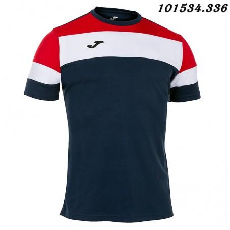 Koszulka piłkarska Joma Crew IV 101534- czarny-biały-granatowy