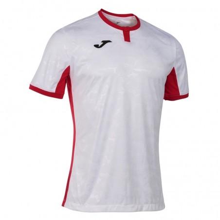 Koszulka piłkarska Joma Toletum II 101476 biała z czerwonymi dodatkami