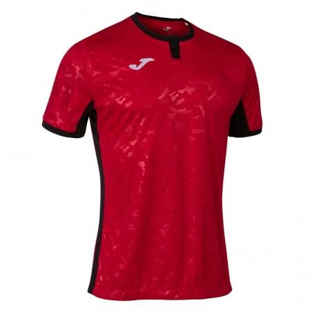 Koszulka piłkarska Joma Toletum II 101476 czerwona z czarnymi dodatkami