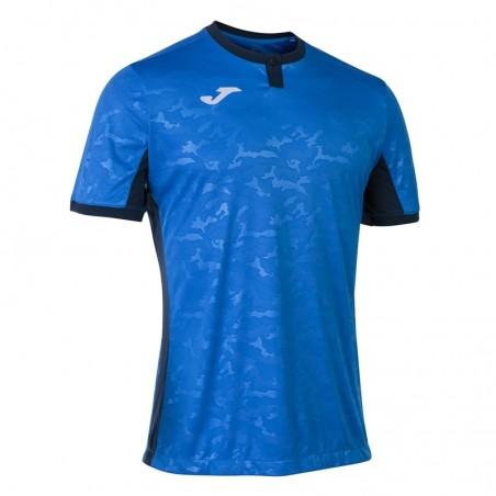Koszulka piłkarska Joma Toletum II 101476 niebieska z czarnymi dodatkami
